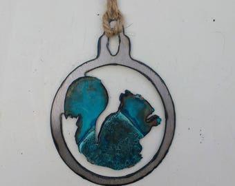 Patina Squirrel Ornament