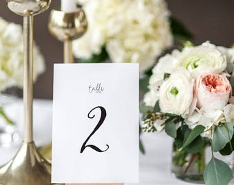 Printable Table Number Cards - Rustic Country Wedding Table Numbers Printable - Wedding Reception - Number 1 to 20 - (Item code: P892)
