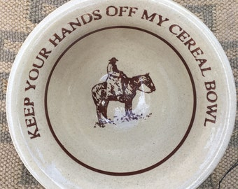 Large western cereal bowl