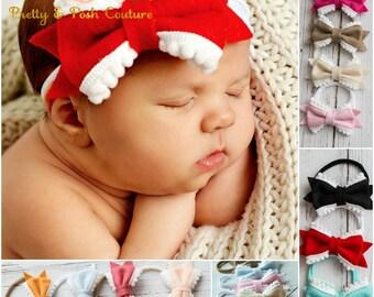 Nylon baby headbands, nylon headbands, infant headband, newborn headband, baby girl headbands, Baby Bow Headband, Baby Hair Bows, Baby Bows.