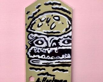 GHOUL BURGER handpainted bookmark OOAK
