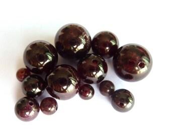 Garnet Pearl Ø 4 mm PF060 has individually gemstone gemstone semi precious