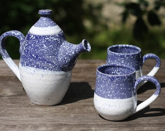 Coffee set Christmas gift Tea set Teapot Pottery Anniversary gift Gift for friend for boyfriend Hostess gift For new home Gift|for|parents