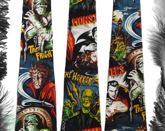 Movie Monsters Tie, Psychobilly, Horror