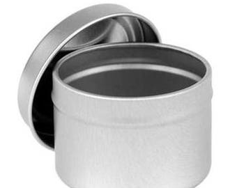 2 oz. metal tin for candles, etc.