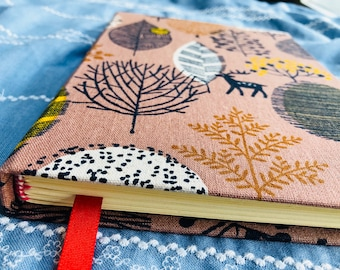Handmade,Journal,Bullet Journal,BuJo,Fabric,Hardcover,Dotted,Lined,Gift,Present,Nature,Cute,Trees,Stationery,Paper,Love,Kawaii,Vintage