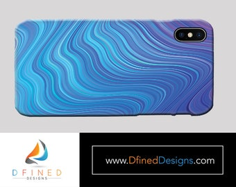 Blue Swirls 2 Phone Case