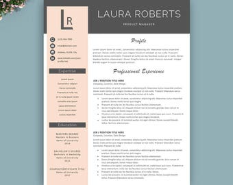 Resume Template, Professional Resume Template, Instant Download, Modern 1,  2 U0026 3