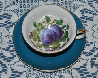 Stunning Vintage, Royal Grafton, Circa 1957, Fine Bone China Teacup And Saucer
