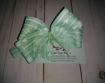 Mint Hair Bow on a Headband