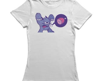 Hungry Scary Monster Women's White Halloween T-shirt