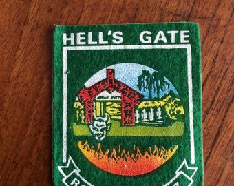 Vintage New Zealand Hells gate Rotorua  patch.