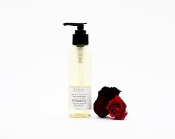 MASSAGE OIL ROMANCE. All natural massage oil. Body oil. Valentine's gift. Sensual Massage oil. Spa gift