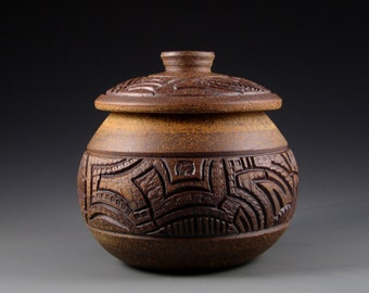 Carved Stoneware Pottery (2065)