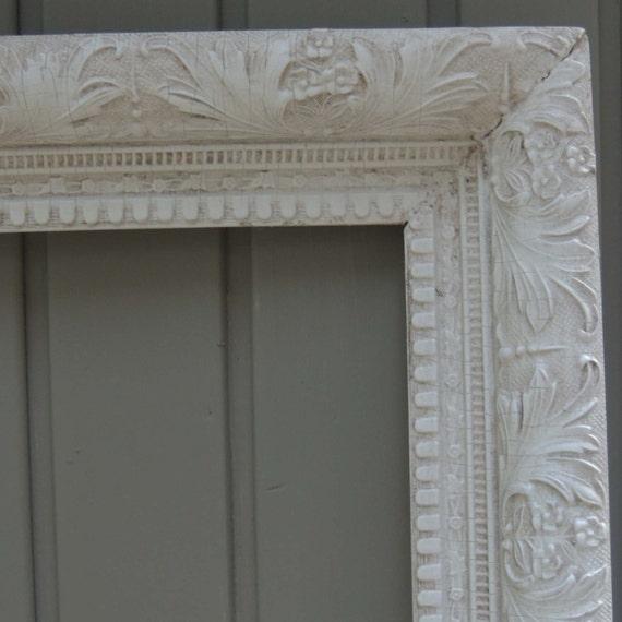 White Picture Frames, 20 x 28 Frame, Ornate Picture Frame, White ...