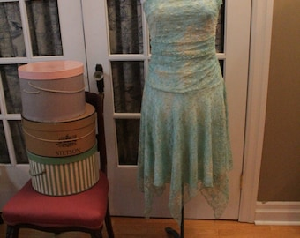 1990's Party Dress with Handkerchief Hem