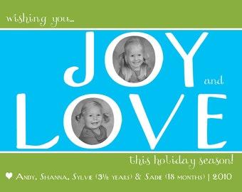 Holiday Card:  Joy & Love Modern