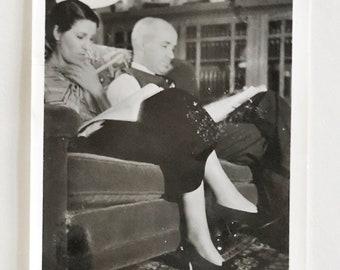 Original Vintage Photograph | A Quiet Evening at Home | 1935