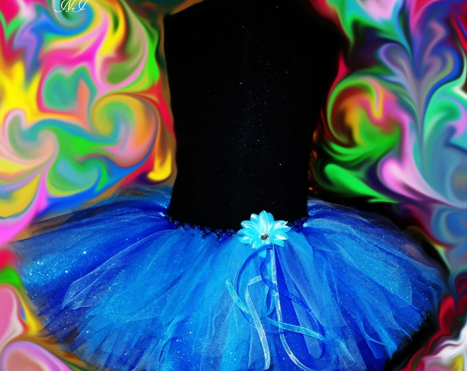 Enchanting Shades of Blue Tutu for your Princess