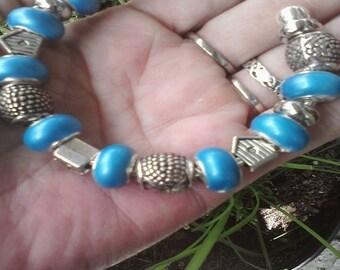 Bangle and bird houses, Euro style bracelet