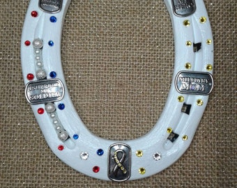 Military Mom horseshoe
