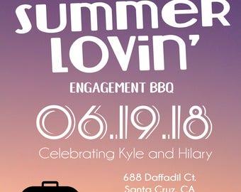 Summer Lovin' engagement party invitation