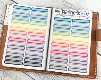 S-584 || ROUNDED HEADER Labels - Pocket Tn Size  (Removable Matte Stickers)