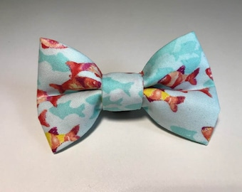 Dog Bow Tie /Coral Reef Fish Fabric