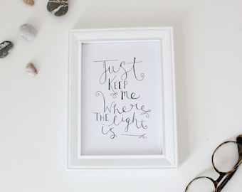 Gravity John Mayer Lyrics // Art Print // 5x7 or 8x10