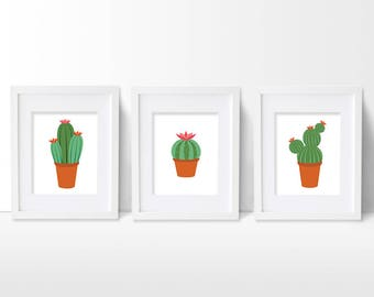 Cactus Nursery Print, Cactus Art Print, Cactus Wall Art, Cacti Nursery Decor, Cactus Nursery Theme, Cactus Nursery Art