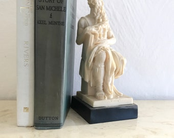 Vintage Marble Statue Moses hand carved Leoni Rome