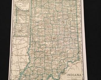 Indiana railroad map Etsy