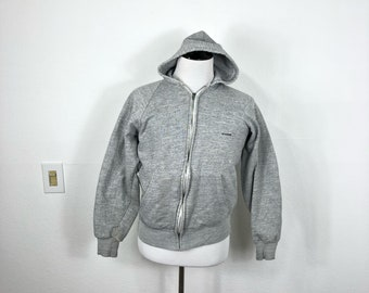 80's vintage mccregor heather gray thermal lined zip up hoodie size L
