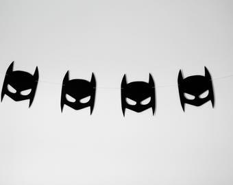 Batman wall bannner. Batman mask, batman party decor, batman bedroom decor, Birthday Party decor, Batman party decor