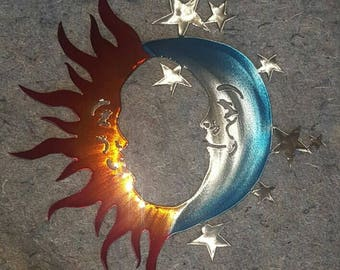 Sun, Moon, and Stars Art Small