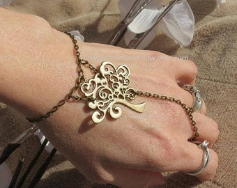 Whimsical Jewelry, Tree Slave Bracelet, Tree of Life ring, whimsical bracelet ring, Whimsical slave jewelry, whimsical ring, bracelet