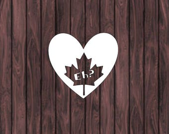 2 Canada Eh? Decals.  Car, Window, Wall, Laptop decal, Canada, Love Canada, Gifts under 5, Gifts for her, gifts for him