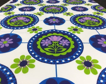 German vintage fabric 50cmx 55 cm Flower Circle