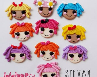 Pack of 10 pieces of lalaloopsy face to paste. In polymer clay