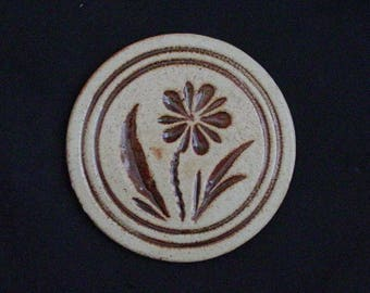 "Pigeon Forge 5"" Tile DAISY (Round) Trivet or Large Coaster ~ Douglas (D.) Ferguson, Pottery Founder (B26) 6857"