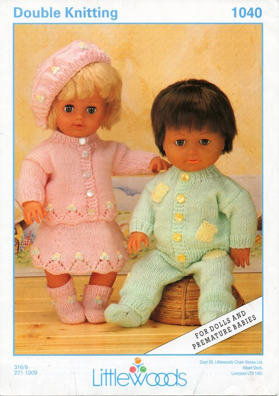 Baby Dolls Knitting Pattern Boy Dolls Outfit Girl Dolls Outfit 12