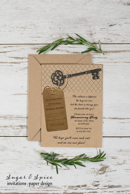 Key housewarming invitation printable housewarming party zoom stopboris Image collections