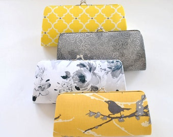 A SET of 12 Bridesmaids Clutch -  Create a Custom Bridesmaid Clutches in your choice of fabrics