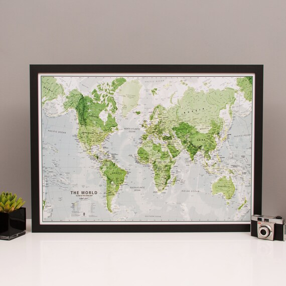 Glow in the dark world map home decor bedroom living glow in the dark world map home decor bedroom living room gift kids map birthday gift map poster glow map gumiabroncs Gallery