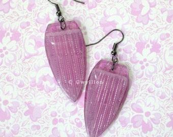 Sparkly Purple Earrings
