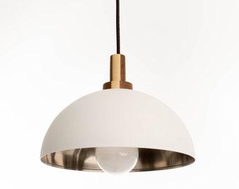 Modern White Pendant Dome Light - The Rolf