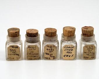 Bundle of 5 Antique Jars with Clock Parts