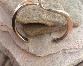 Heavy copper bracelet hand forged