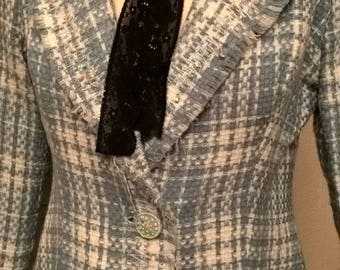 Short jacket, fitted at waist