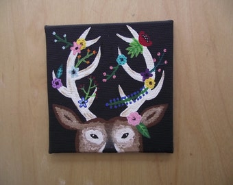 Springtime Antlers Deer